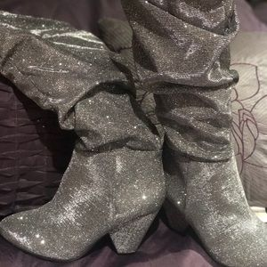 Sparkly wide calf Boots